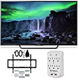 4K Ultra HD Smart LED TV - Sony XBR-55X810C - 55-Inch 4K Ultra HD 120Hz Android Smart LED TV Wall Mount Bundle includes 55-Inch 4K Ultra HD TV, Slim Flat Wall Mount Kit and Surge Protector with USB Ports