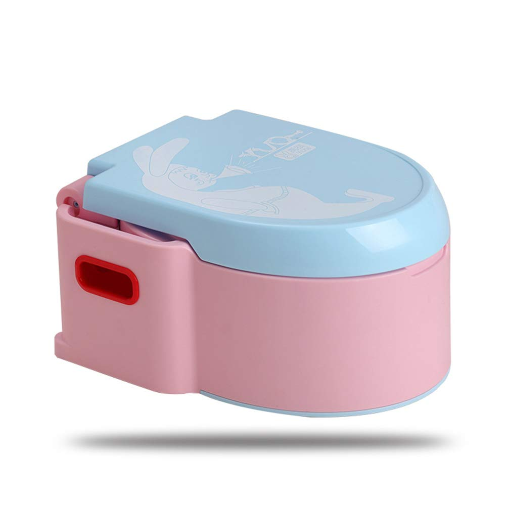 QXHELI Portable Child Toilet, Food Grade Material Without Bpa Handle Slip On Both Sides (Blue and Pink)