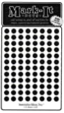 """Medium 1/4"""" removable Mark-it brand dots for maps, reports or projects - black"""
