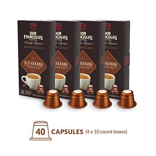 - Don Francisco's Espresso Capsules Old Havana, Intensity 8 (40 Pods) Compatible with Nespresso OriginalLine Machines, Single Cup Coffee