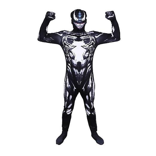 BGHKFF Venom Spiderman Disfraz NiñO Adulto Cosplay Ropa De Traje ...