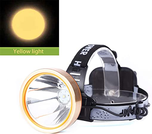 Riding Running Light Black Outdoor Camping Light Head Lamp for Adults and Kids Rechargeable Headlight Flashlight Fishing Light Lightweight White Light Waterproof Searchlight LED Headlamp