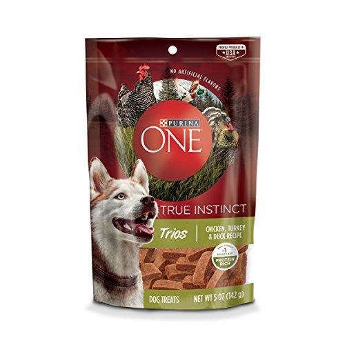 Purina ONE Made in USA Facilities Dog Treats; True Instinct Trios Chicken, Turkey & Duck Recipe - 5 oz. (Best Purina Doggie Treats)