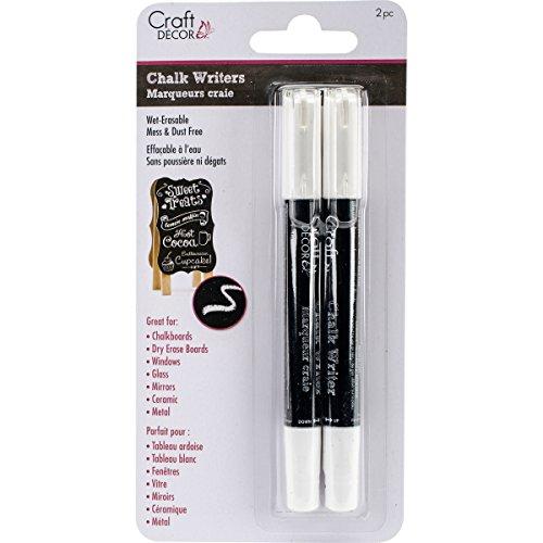 - Craft Décor Chalk Writer 2/Pkg-White