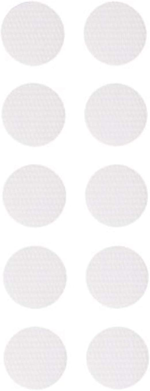 Wei/ß ZADAWERK/® Klettpunkte /Ø 15 mm 60 Paar Klettverschluss selbstklebend extra stark
