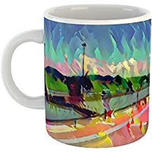Westlake Art - Coffee Cup Mug - Landmarks Panama Canal - Modern Abstract Artwork Home Office Birthday Gift - 11oz (69m 7ef c54)