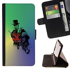 BullDog Case - FOR/Sony Xperia Z1 Compact D5503 / - / Train To Yuma /- Monedero de cuero de la PU Llevar cubierta de la caja con el ID Credit Card Slots Flip funda de cuer