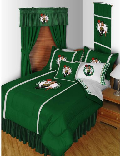 NBA Boston Celtics King Comforter Set Basketball Logo Bed