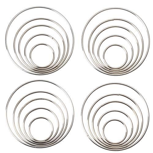 Genie Crafts 20 Piece Set Metal Macrame Hoop