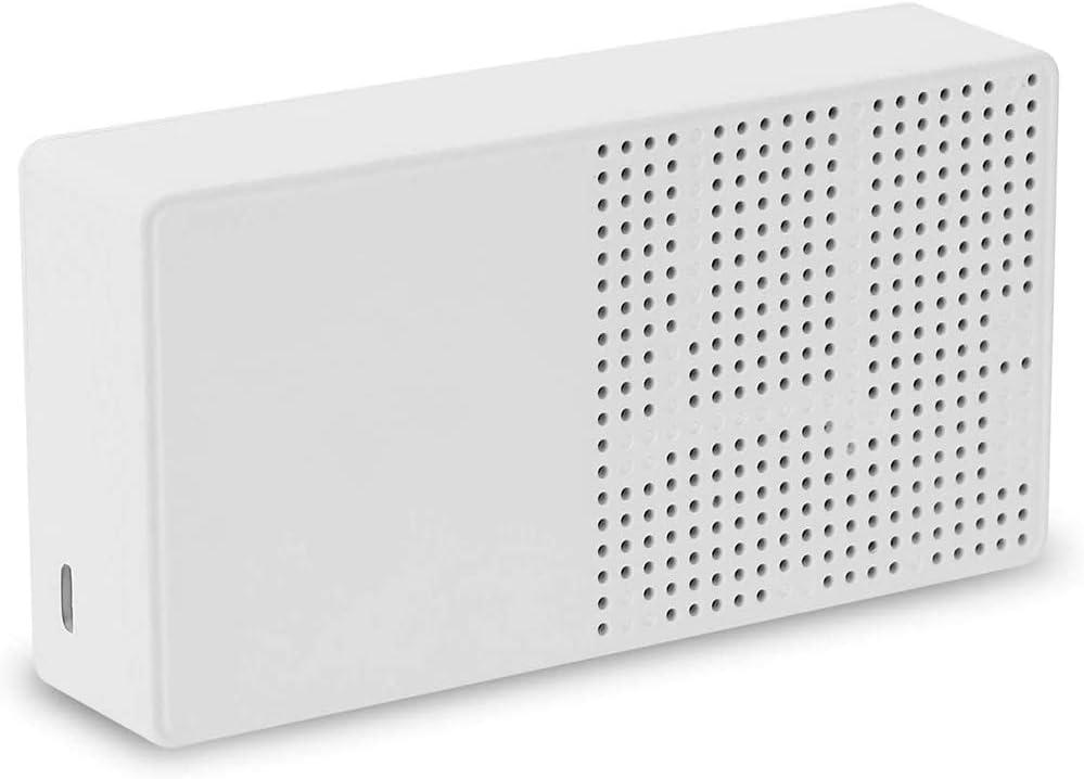 Faraone4w CO2-Messger/ät CO2-Kohlendioxid-Detektor CO2-Tester Haushaltsluftqualit/ätsdetektor mit aktueller Menge Temperatur Luftfeuchtigkeitsanzeige f/ür zu Hause mit 2500 mAh Batterie