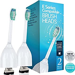 E Series Replacement For Philips Sonicare Essence, Xtreme, Elite, CleanCare And Advance - 2 Pack Generic Sonicare Toothbrush Heads Quality Electric Toothbrush Replacements (B00JRVSABO) | Amazon price tracker / tracking, Amazon price history charts, Amazon price watches, Amazon price drop alerts