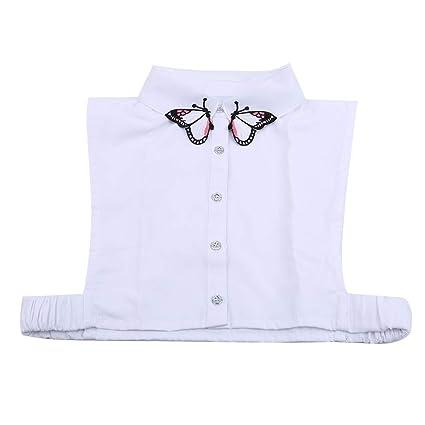 damen halbes hemd bluse abnehmbarer kragen