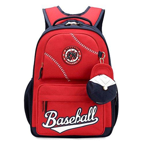 MATMO American Baseball Caps School Bags Children Student Backpack Red