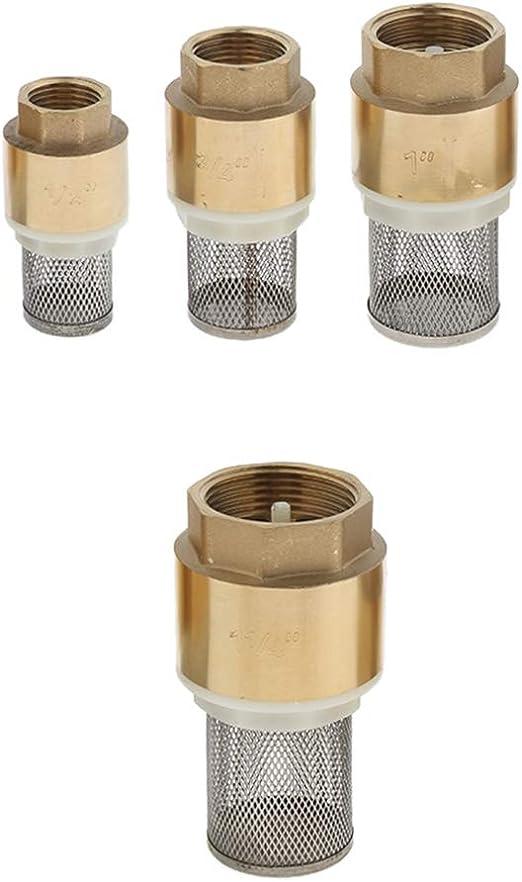 Brass Foot Valve Mesh Check Valve for Water Oil w// Strainer Filter DN15-DN32