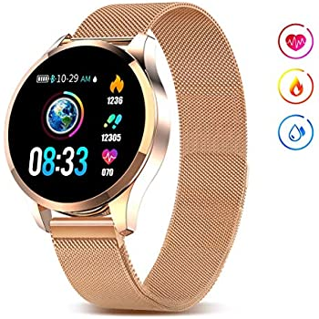 Amazon.com: Smart Watch, Bluetooth Smartwatch for Women ...