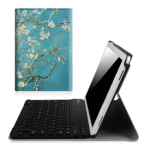 Fintie Keyboard Case for Samsung Galaxy Tab A 10.1 with S Pen 2016, Slim Light Weight Stand Cover with Detachable Wireless Bluetooth Keyboard for Galaxy Tab A 10.1 with S Pen(SM-P580/P585), Blossom