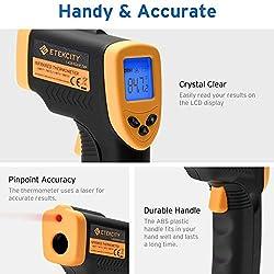 Etekcity Lasergrip 749 Non-Contact Digital Laser Infrared Thermometer Temperature Gun-58?~ 716? (-50? ~ 380?), Standard Size, Black/Yellow
