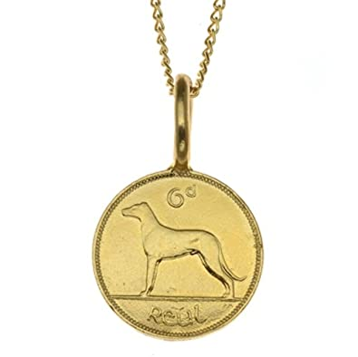 Katie Mullally Irish 6 Pence Gold Plated Coin 5UvvMtmGL