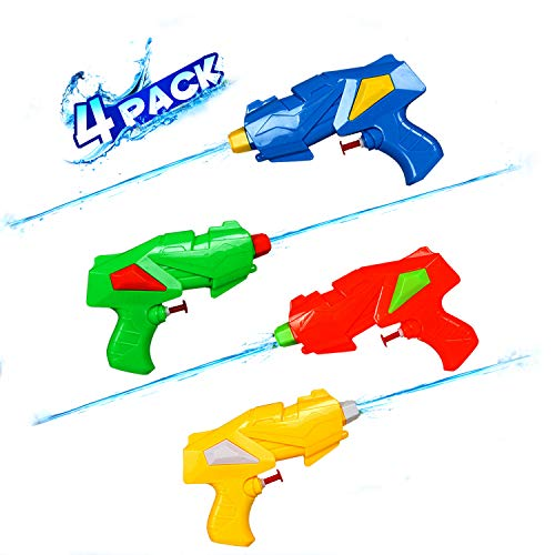 Water Guns for Kids Adults - 4 Pack Water Blaster Pistol & Squirt Guns Toy, Summer Swimming Pool Beach Sand Outdoor Water Fighting Play Toys Gifts