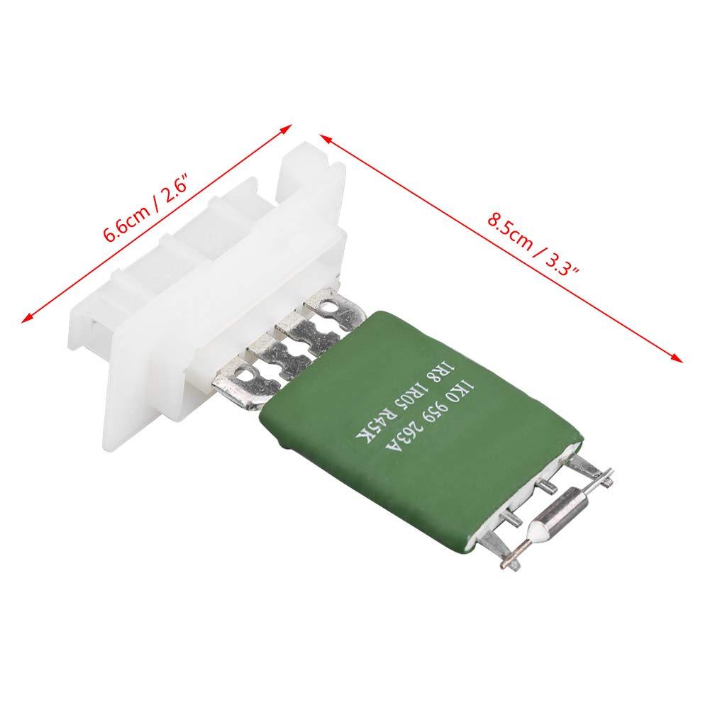 KIMISS Ventola del riscaldatore con Resistenza del Motore di Controllo del Ventilatore per 1K0959263A