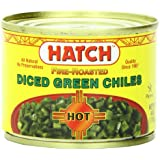 Hatch Diced Hot Green Chilies, 4-Ounce (Pack of 8)