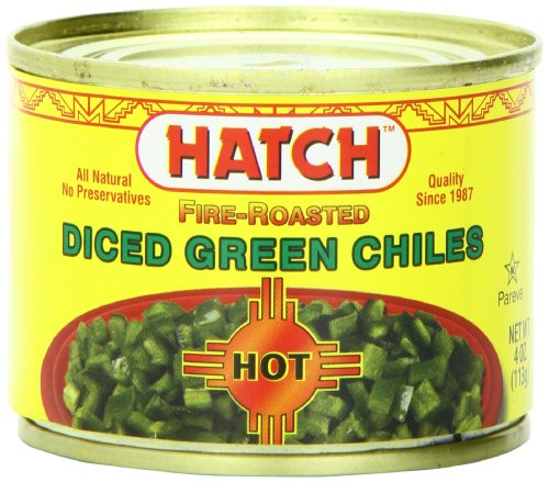 Hatch Diced Hot Green Chilies, 4-Ounce (Pack of -