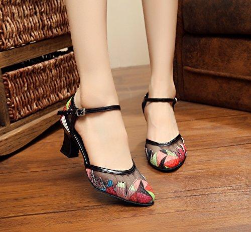 Minitoo - Zapatillas de danza para mujer Red
