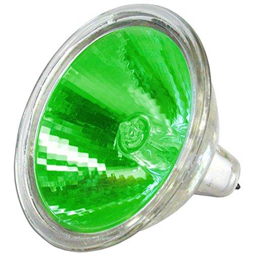 LAMPADA DICROICA 12V 20W VERDE PER MASCHERE FARO BOOSTER AEROX GREEN HEADLIGHT ONE