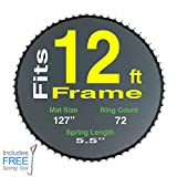 """128"""" Mat with 72 Rings for 12ft Round Frame and"""