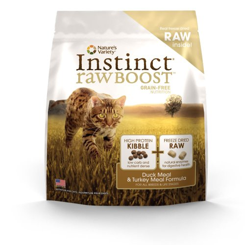 Instinct Raw Boost Grain-Free Duck Meal and Turkey Meal Formula Dry Cat Food by Nature's Variety, 5.1-Pound Bag, My Pet Supplies