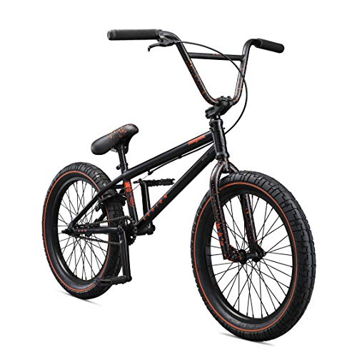 Mongoose Legion L60 Freestyle BMX Bike, 20-Inch Wheels, Black/Orange