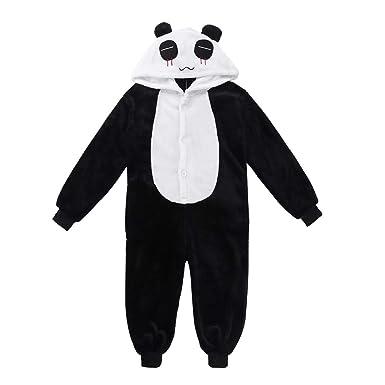 f654b05e55d99 YiZYiF Enfant Garçon Fille Grenouillères Animal Pyjama Body Combinaison à Capuche  Flanelle Vêtement de Nuit Cosplay