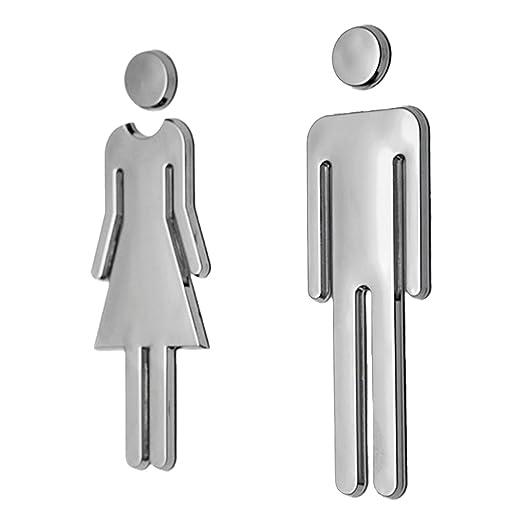 9 opinioni per Uomo E Donna WC Adesivi Segni Toilette Segnaletica Targa- Argento