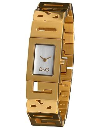 c036456ca524 D G DW0290 - Reloj de Señora movimiento de cuarzo con brazalete metálico  blanco