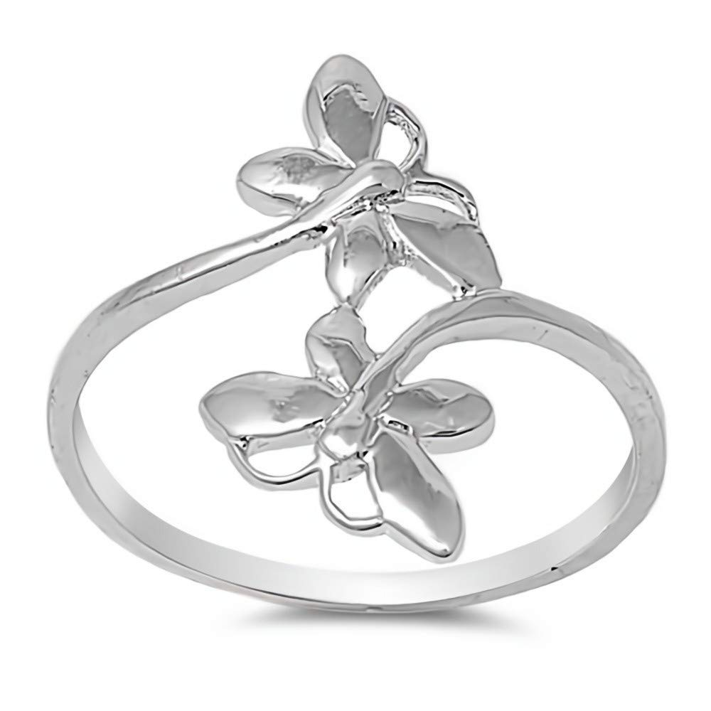 Butterfly Glitzs Jewels 925 Sterling Silver Ring Cute Jewelry Gift for Women in Gift Box