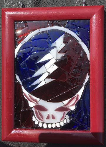 Stealie Stained Glass Grateful Dead Window Art Sun Catcher, Steelie by Mountain Mosaics (Image #3)