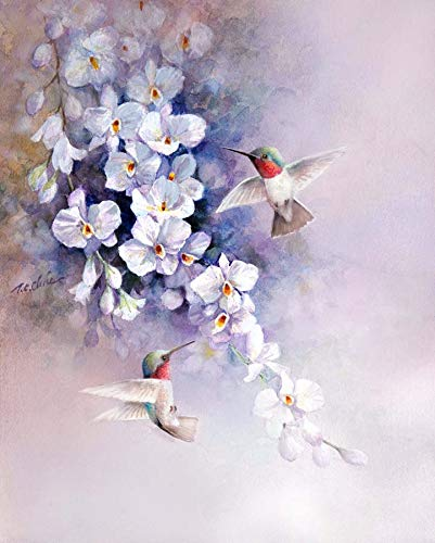 e lowers print of Watercolor Painting - Nature, Flowers, Birds, Peaceful Gifts, Gift for Ladies ()