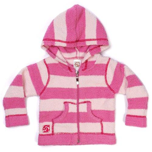 Kashwere Striped Baby Hoodie Jacket - Pink Raspberry & Pink, 12-24 month ()