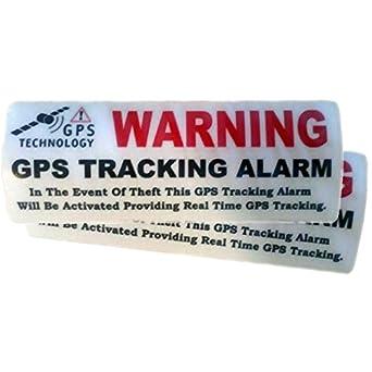 2 Pegatinas disuasorias interior cristal localizador GPS vehiculos ...
