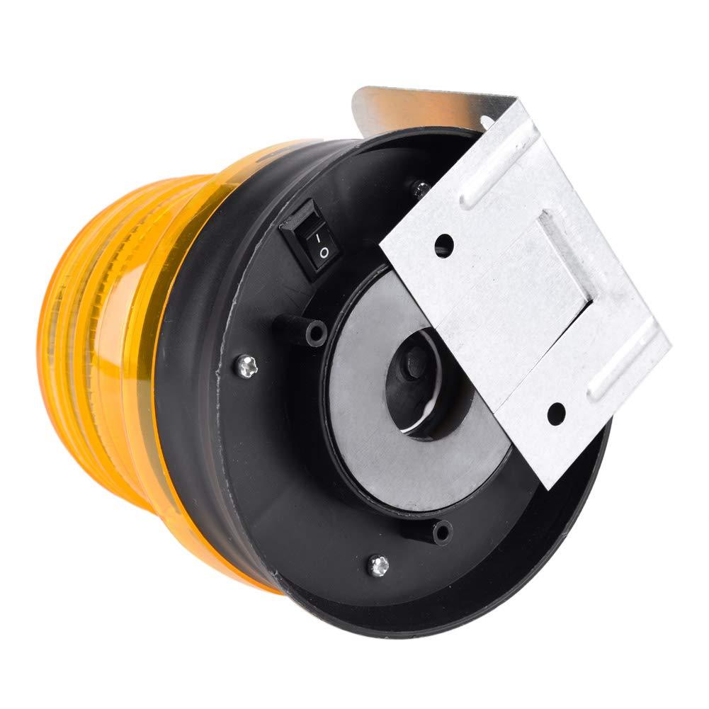 Yellow Zerodis Spia Lampeggiante Solare Spia Luminosa Emergenza LED con Base Magnetica per Avvertenza sul Traffico Automobilistico