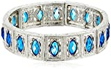 Best 1928 Jewelry Bracelets - 1928 Jewelry Silver-Tone Blue Navette Green Stretch Bracelet Review