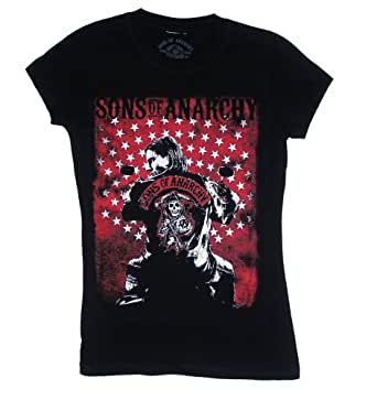 Jax - Sons Of Anarchy Sheer Women's T-shirt: Junior Small - Black