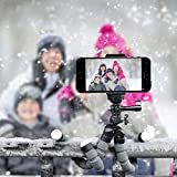 Phone Tripod, Anconic flexible cell phone Tripod with Remote for Iphone& Android Phone, Camera, and Gopro[UPGRADED]