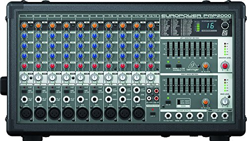 800w Powered Stereo Mixer (Behringer Europower Pmp2000 800-Watt 10-Channel Powered Mixer With Multi-Fx Processor)