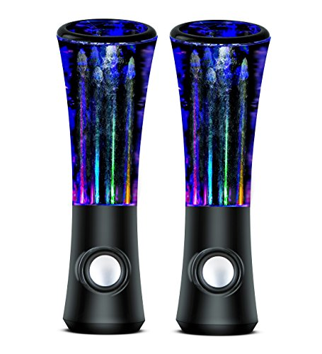 Lightahead New ATake Third generation Colorful Diamond Water Dancing Speaker Enhanced quality & features 2 in1 USB with Volume & other Controls LED Lamp (Black)