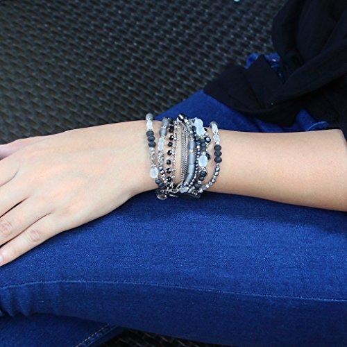 Amy : Gros bracelet multirangs - Franck Herval