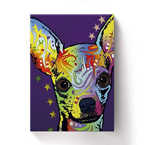 Chihuahua Colorful Animals Wall Decoration Art Image Printed on 11