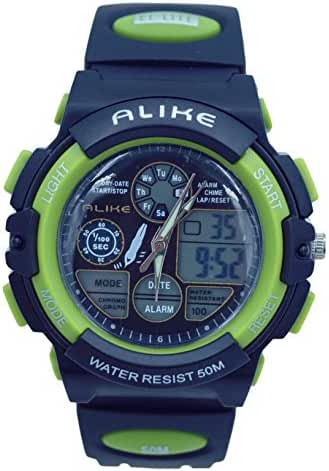 Aivtalk Light Weight Kid Student Sport Watch Water Shock Resistant Analog Sports Wrist Watch For Child Boys With Backlight - Green