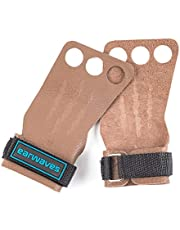 Earwaves ® Rex Grips 2 & 3 Holes - Leather Gymnastics Grips for Men and Women. Hand Grips for CrossFit, Callisthenics, pull-ups, muscle ups, rings, weighlifting, etc.
