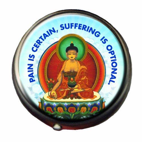 Buddha Pill Box - Compact 1 or 2 Compartment Medicine Case
